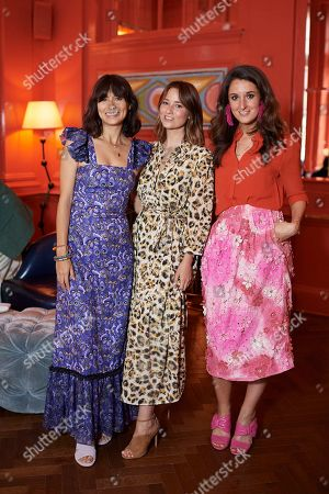 Jasmine Hemsley, Kelly Eastwood and Rosanna Falconer attend the Matthew Williamson afternoon tea at The Coral Room to launch the collection with Newby Teas of London