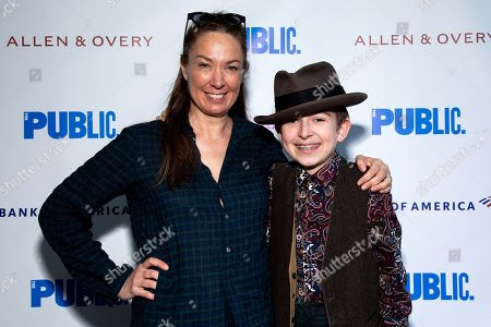 Stock Photo of Elizabeth Marvel and son Silas