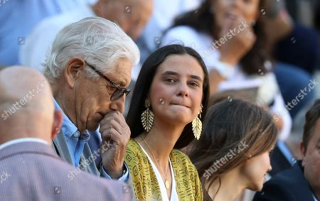 Victoria Federica de Marichalar y Borbon (C), daughter of Spanish Princess Elena, attends the traditional Charity Bullfight held at the Las Ventas Bullring in Madrid, Spain, 12 June 2019.