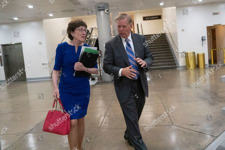 United States Senator Susan Collins (Republican of Maine) and United States Senator Lindsey Graham (Republican of South Carolina)