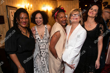 Stock Picture of Lynn Nottage (Author), Lynette Linton (Director), Clare Perkins (Cynthia), Martha Plimpton (Tracey) and Leanne Best (Jessie)
