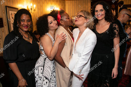 Lynn Nottage (Author), Lynette Linton (Director), Clare Perkins (Cynthia), Martha Plimpton (Tracey) and Leanne Best (Jessie)