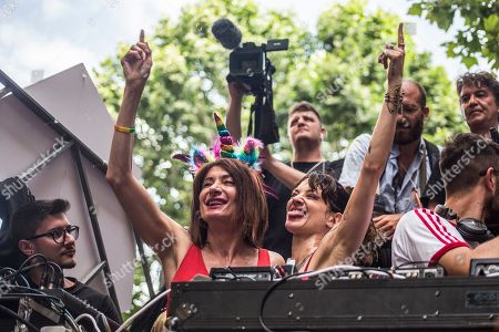 Vladimir Luxuria, Asia Argento during the Gay Pride