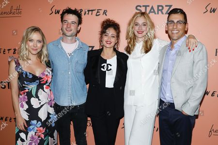Stephanie Danler, Tom Sturridge, Ella Purnell, Caitlin Fitzgerald and Stu Zicherman