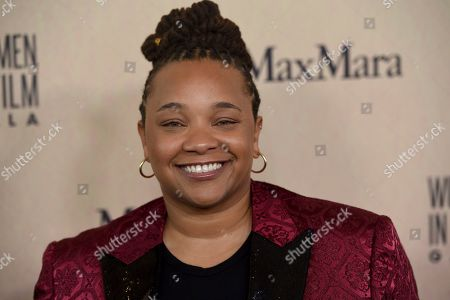 Stock Photo of Tina Mabry arrives at the Women in Film Annual Gala, at the Beverly Hilton Hotel in Beverly Hills, Calif
