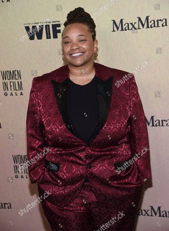 Stock Picture of Tina Mabry arrives at the Women in Film Annual Gala, at the Beverly Hilton Hotel in Beverly Hills, Calif
