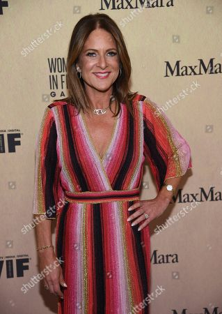 Cathy Schulman arrives at the Women in Film Annual Gala, at the Beverly Hilton Hotel in Beverly Hills, Calif