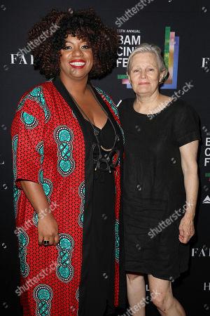 Gina Duncan (VP Cinema; BAM) and Mary Harron
