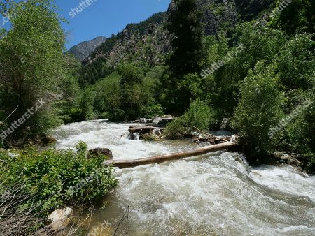 This, photo shows the Big Cottonwood Creek, in the Big Cottonwood canyon, near Salt Lake City. The summer's melting snowpack is creating raging rivers that are running high, fast and icy cold. The state's snowpack this winter was about 150 percent higher than the historical average and double the previous year, which was the driest on record dating back to 1874, said Brian McInerney, hydrologist for the National Weather Service in Salt Lake City. Large parts of the Salt Lake City metro area sits near the foothills of the towering Wasatch Range