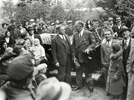 Governor Franklin Roosevelt and Boston Mayor James Curley appeared together on Oct. 30, 1932. FDR was visiting his alma mater, the Groton school, where two of his sons, Franklin Jr. and John, were students.