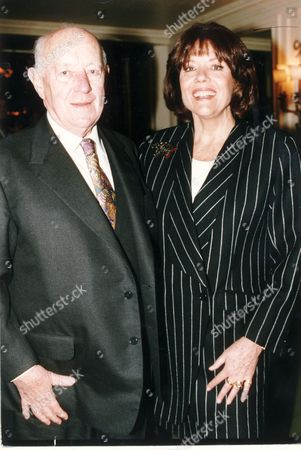 Actor Sir Alec Guinness Pictured With Actress Dame Diana Rigg At The Evening Standard Drama Awards.