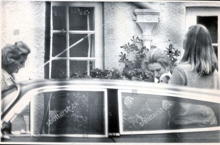 Princess Anne Now The Princess Royal - July 1973 Princess Anne Centre Arrives At Her In-laws-to-be's House At Great Romisford. Anne Centre Mark Phillips Left And Sarah Phillips Right -- Sister Of Mark Who Will Be In Germany While Anne Stays At The M??? House -- Mark's Home For The Tetbury(?) Show In Which She Is Riding....royalty