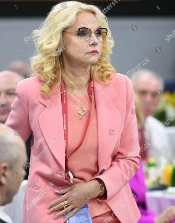 Deputy Prime Minister of Russia Tatyana Golikova at the Sberbank business breakfast.