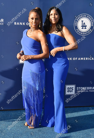 Stock Picture of Holly Robinson Peete and Cookie Johnson