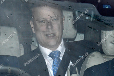British Transport Secretary Chris Grayling is driven to the Houses of Parliament for the first round of voting for the Conservative party leadership at the Commons in London, Britain, 13 June 2019. Ten MPs are running for the party's leadership to replace the resigning Conservative Leader and Prime Minister. Candidates need to secure at least 17 votes in the first round, eventually leading to a run-off between two Tory candidates.