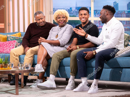 Stock Photo of Coronation Street - The Bailey Family, Trevor Georges, Lorna Laidlaw, Nathan Graham and Ryan Russell