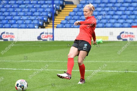 Katie Chapman in action from Soccer Aid for Unicef's training week, in preparation for the match on Sunday