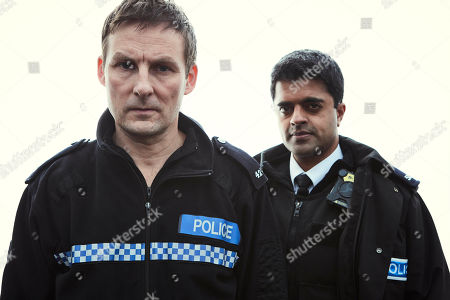 Anthony Flanagan as PC Sean Cobley and Divian Ladwa as PC Drakes.