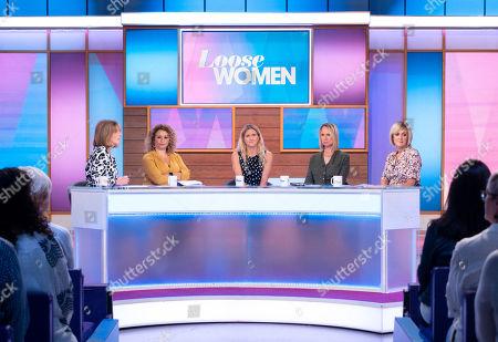 Stock Photo of Kaye Adams, Nadia Sawalha, Kim Leadbeater, Carol McGiffin and Jane Moore