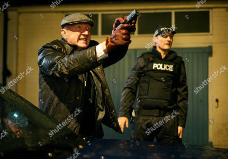 Stock Photo of Steffan Rhodri as DS Alex Blair and Anthony Flanagan as PC Sean Cobley.