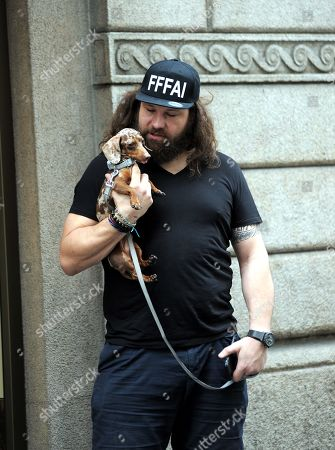Editorial photo of Martin Castrogiovanni out and about, Milan, Italy - 07 Jun 2019