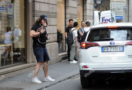 Editorial image of Martin Castrogiovanni out and about, Milan, Italy - 07 Jun 2019