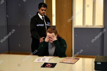 Stock Image of Bronwyn James as DC Muriel Yeardsley and Divian Ladwa as PC Drakes.
