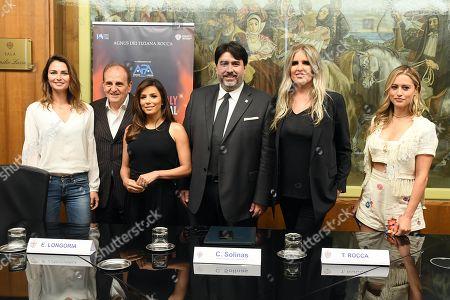 Eva Longoria, Anna Safroncik, Lorenzo Giannuzzi, Christian Solinas, Tiziana Rocca and Lola Ponce