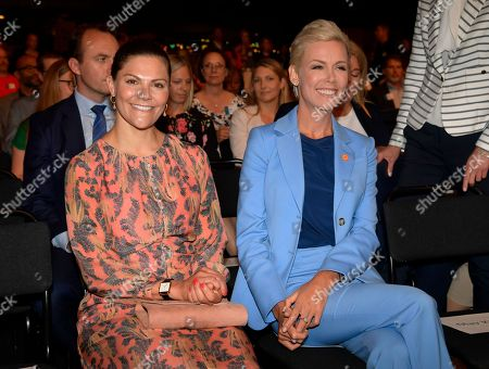 Stock Image of Crown Princess Victoria and Gunhild Stordalen
