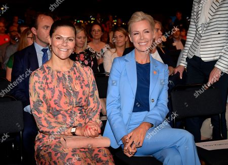 Stock Picture of Crown Princess Victoria and Gunhild Stordalen