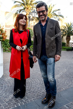 Stock Picture of Vanessa Gravina and Paolo Conticini