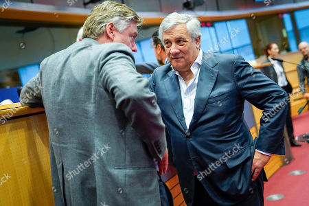 Stock Picture of Antonio Tajani, Antonio Lopez Isturiz White