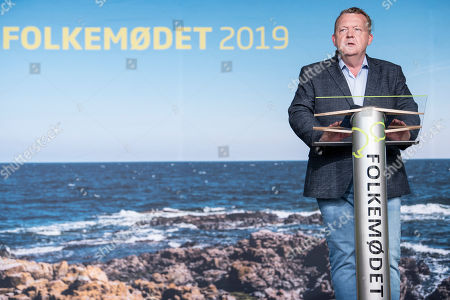Danish prime minister Lars Loekke Rasmussen speaks at the official opening of 'Folkemoedet' on the island of Bornholm, Denmark, 13 June 2019. Folkemoedet is a meeting of people and politicians, where Bornholm provides the venue for Danish politicians to debate current political issues. All events are free and only a walking distance apart.