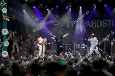Coolio performing at Leopardstown Racecourse,