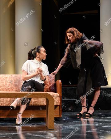 Doon Mackichan as Sondra and Ioanna Kimbook as Yung Kim Li