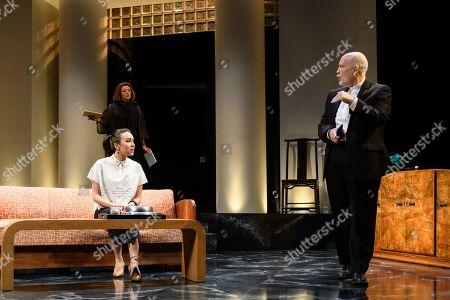 John Malkovich as Barney Fein, Doon Mackichan as Sondra and Ioanna Kimbook as Yung Kim Li