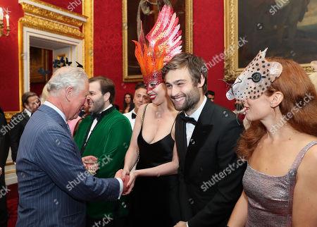 Stock Image of Prince Charles and Douglas Booth