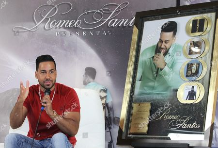 Romeo Santos speaks at a press conference in Mexico City, Mexico, 13 June 2019.