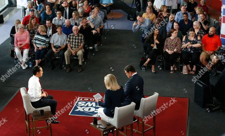 Democratic presidential candidate Julian Castro speaks during a FOX News Channel town hall event, in Tempe, Ariz., being co-moderated by The Story's Martha MacCallum and Special Report's Bret Baier