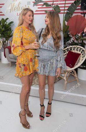 Stock Image of Giulia Siegel and Alessandra Meyer-Woelden
