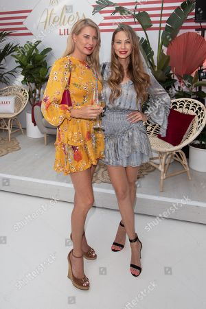 Stock Photo of Giulia Siegel and Alessandra Meyer-Woelden