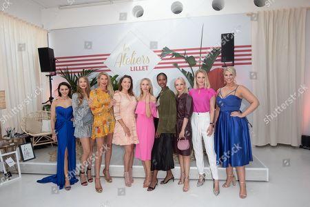 Oana Nechiti, Sandy Meyer-Woelden, Giulia Siegel Simone Ballack, Julia Dietze, Sara Nuru, Janin Ullmann, Ruth Hofmann and Angelina Kirsch