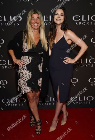 Nicole Purcell, Katie Nolan. Nicole Purcell President, Clio Awards, left, and Clio Sports Awards host Katie Nolan poses at The Clio Sports Awards at the Capitale Ballroom, in New York