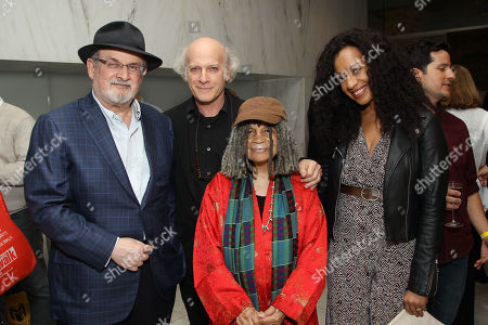 Stock Photo of Salman Rushdie, Timothy Greenfield-Sanders, Sonia Sanchez, Guest
