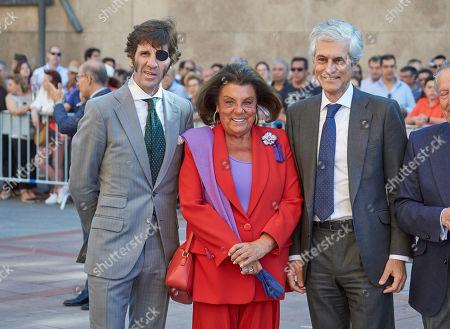 Bullfighter Juan Jose Padilla, Pilar Gonzalez del Valle, Adolfo Suarez Illana