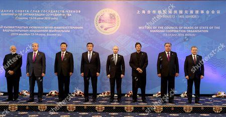 Editorial photo of 19th Shanghai Cooperation Organization Summit, Bishkek, Kyrgyzstan - 14 Jun 2019