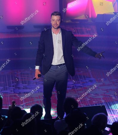 Justin Timberlake walks the red carpet at the 50th annual Songwriters Hall of Fame induction and awards ceremony at the New York Marriott Marquis Hotel, in New York