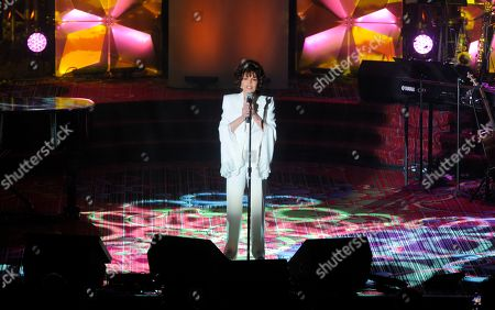 Carole Bayer Sager performs at the 50th annual Songwriters Hall of Fame induction and awards ceremony at the New York Marriott Marquis Hotel, in New York