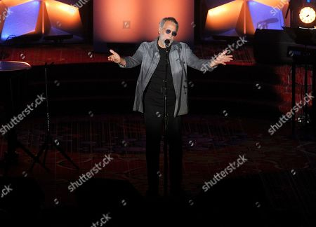 Stock Image of Yusuf Islam performs on stage at the 50th annual Songwriters Hall of Fame induction and awards ceremony at the New York Marriott Marquis Hotel, in New York