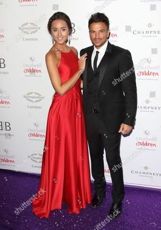 Stock Photo of Emily Andréa and Peter Andre